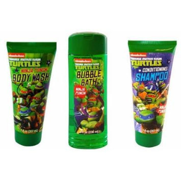 TMNT Ninja Turtle Body Wash + Bubble Bath + Shampoo (set of 3)