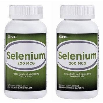 GNC Selenium 200mcg -- 200 Tablets (Two Bottles each of 200 Tablets)