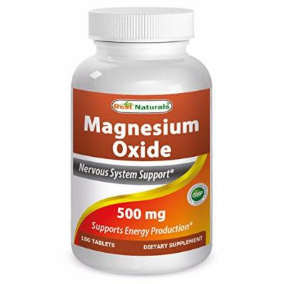 Best Naturals Magnesium Oxide 500 mg 180 Tablets