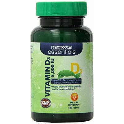 Betancourt Essentials Vitamin D 5000 IU, 100 Count