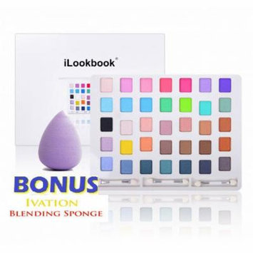 SHANY Professional Cosmetics, Carry All ILookBook Laptop Makeup Kit, 35 Gorgeous Colors, Bright, Darks, Nudes and some Uncommon Shades Pigmented Eye Shadows, Large Mirror on the Top Lid, Comes in an Elegant Modern White Packaging with Protection...