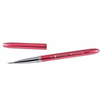 Winstonia Kolinsky Sable Nail-Art Detail Brush #0 w/ Aluminum Handle and Cap