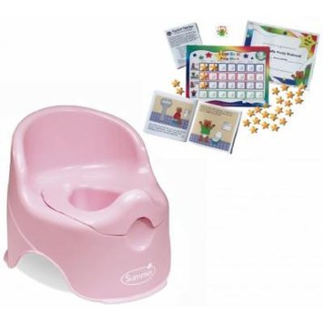 Summer Infant Lil' Loo Toddler Potty with Kenson Kids Potty Training Chart System, Pink