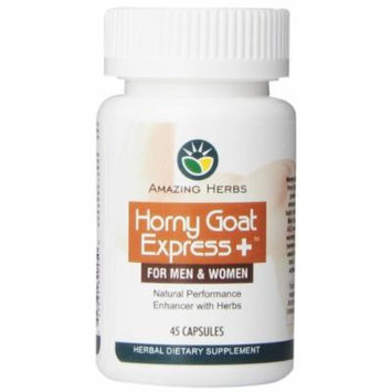 Amazing Herbs Horny Goat Express Capsules, 45 Count