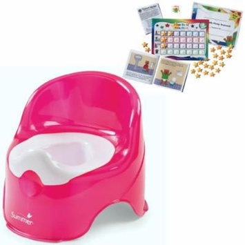 Summer Infant Lil' Loo Toddler Potty with Kenson Kids Potty Training Chart System, Raspberry