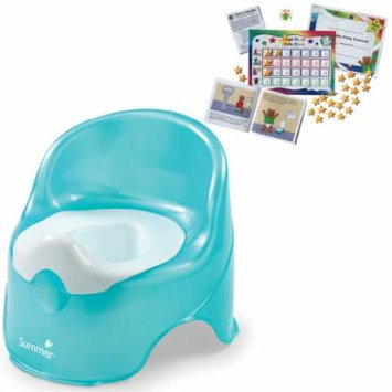 Summer Infant Lil' Loo Toddler Potty with Kenson Kids Potty Training Chart System, Teal