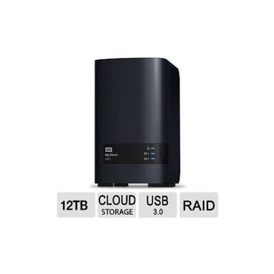 WD My Cloud EX2 12TB Personal Cloud Storage - Reliable, High-Performance, Two Bay NAS - WDBVKW0120JCH-NESN