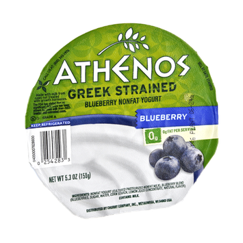 Athenos Greek Strained Blueberry Nonfat Yogurt