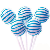 Yum Junkie Blue Sassy Suckers Striped Ball Lollipops 100 Pieces: 5 LBS