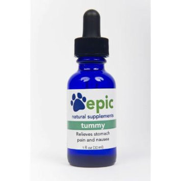 Tummy - Natural, Electrolyte, Odorless Pet Supplement That Relieves Stomach Pain and Nausea (Dropper, 1 Ounce)