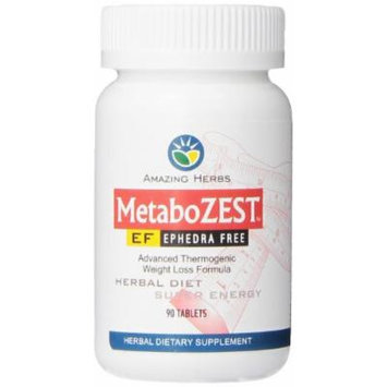 Amazing Herbs Metabozest EF Weight Loss/Energy Tablets, 90 Count
