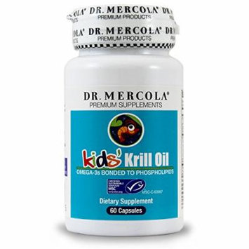 Dr. Mercola Krill Oil For Kids - 60 Capsules - Omega-3 Bonded To Phospholipids - MSC Certified - Easy To Swallow