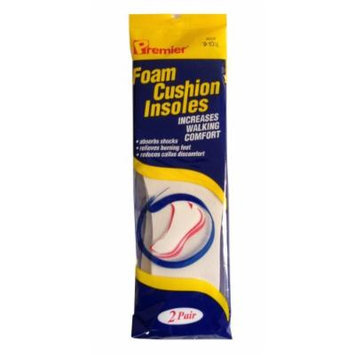Premier Foam Cushion Insoles (9-10.5)