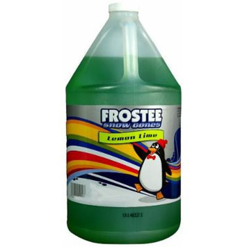 Frostee Snow Cone Syrup, Lemon Lime, 128 Ounce (pack of 4)