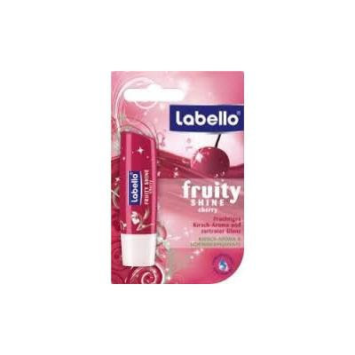 Labello Fruity Shine Cherry Lip Balm with Shimmering Color Pigments 4.8ml [European Import] (PACK of 4)