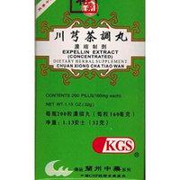 EXPELLIN EXTRACT (CHUAN XIONG CHA TIAO WAN)160mg X 200 pills per bottle.