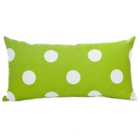 Glenna Jean Ellie & Stretch Rectangle Throw Pillow in White/Green