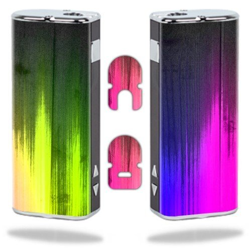 MightySkins Protective Vinyl Skin Decal Wrap for Eleaf iStick Vapor Mods Pen Vape Cover Sticker Skins Rainbow Wood