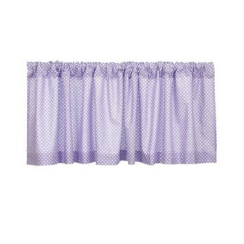 Glenna Jean Fiona Window Valance in White/Purple
