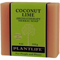 Plantlife Coconut Lime 100% Pure & Natural Aromatherapy Herbal Soap- 4 oz (113g)