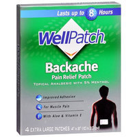 WellPatch Backache Pain Relieving Pads