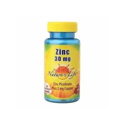 Nature's Life Zinc 30mg, Veggie Caps 100 ea