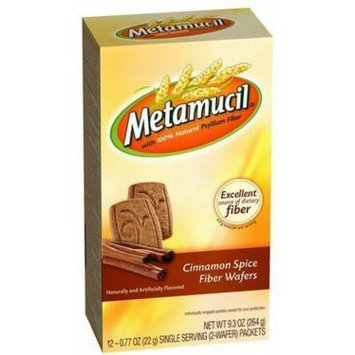 Metamucil Fiber Wafers, Cinnamon Spice, 24 ct (Pack of 5)