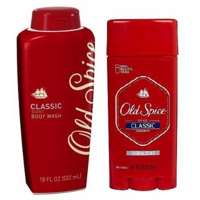 Old Spice Original Scent Classic Deodorant 3.25 oz & Body Wash Classic Scent 18 oz COMBO