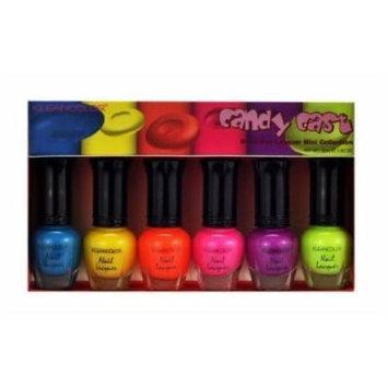 Klean Color Candy Cast Neon Nail Lacquer Mini Collection Clean .17 oz KleanColor