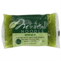 Miracle Noodle Spinach Shirataki Noodles, 7 Ounce (Pack of 24)