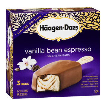 Haagen-Dazs Vanilla Bean Espresso Ice Cream Bars
