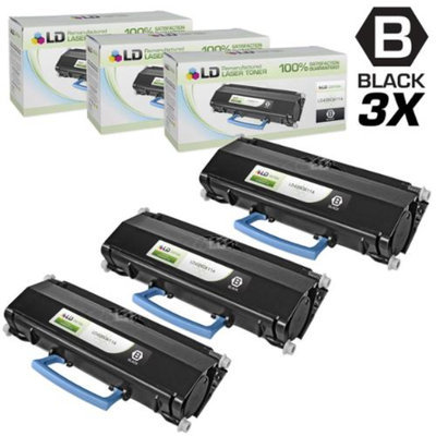 LD © Compatible Lexmark E260A11A Set of 3 Black Laser Toner Cartridges