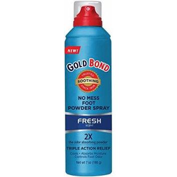 Gold Bond No Mess Foot Powder Spray, Fresh 7 oz (Pack of 2)