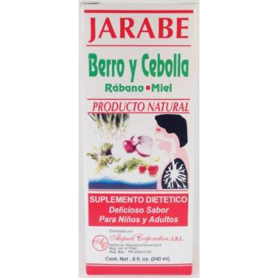 Jarabe Berro y Cebolla Rabano-Miel 8 Oz. Watercress and Onion Radish-Honey Syrup