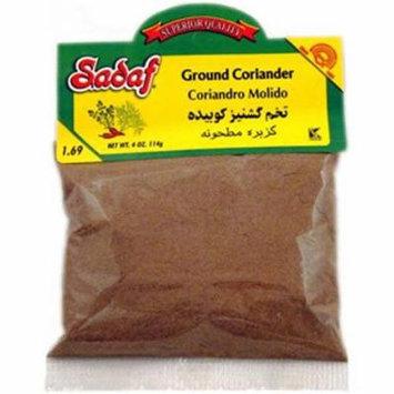 Sadaf Ground Coriander, 4 Ounce Bag