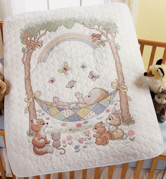 Bucilla Company Bucilla Our Little Blessing Crib Cover Stamped Cross Stitch Kit-34