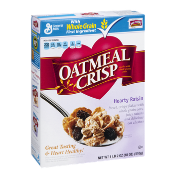 General Mills Oatmeal Crisp Hearty Raisin Cereal