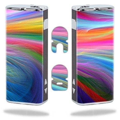MightySkins Protective Vinyl Skin Decal Wrap for Eleaf iStick Vapor Mods Pen Vape Cover Sticker Skins Rainbow Waves