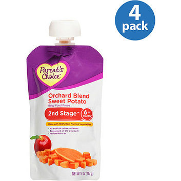 Parent's Choice 2nd Stage Orchard Blend Sweet Potato Baby Food Puree