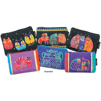 Laurel Burch NOTM085030 - Cosmetic Bag Zipper Top Assortment 9