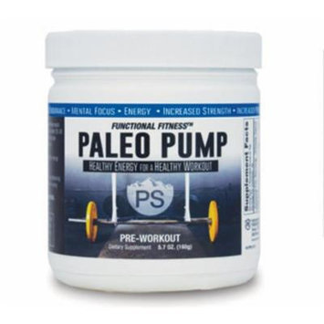 #1 Rated PALEO PUMP All Natural Pre-Workout Energy Blend , 30 Servings Per Container , No Additives All Natural Flavoring , 5.7 oz Jar , Paleo Diet Friendly , Free Shipping!