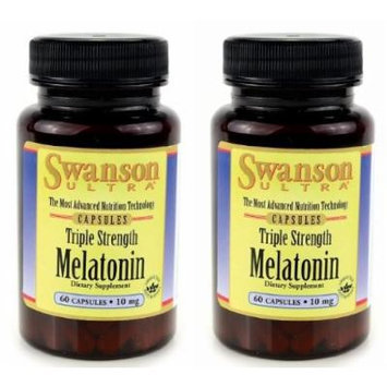 Swanson Ultra Triple Strength Melatonin -- 2 Bottles each of 10mg 60 Capsules