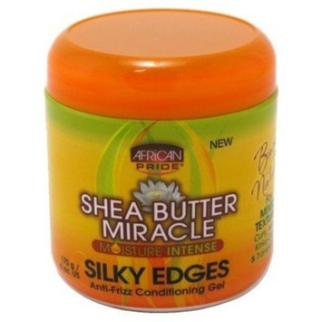 African Pride Shea Butter Miracle Silky Edges 6oz Jar [(1 Pack)]