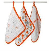 Aden & Anais Scrub Washcloth Set Splish Splash