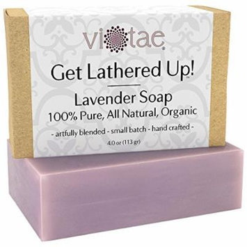 Certified Organic LAVENDER Soap - by Vi-Tae® - 100% Pure, All Natural, Aromatherapy LUXURY Herbal Bar Soap - 4oz