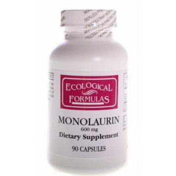 Ecological Formulas/cardiovascular Res. - Monolaurin 600mg - 90 Capsules (180 Capsules)