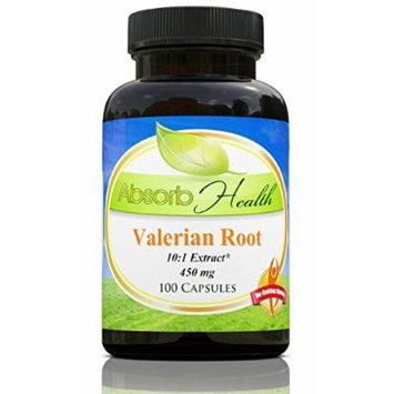 Valerian Root Extract , 450mg 100 Capsules , 10:1 , Relaxation and Sleep Aid