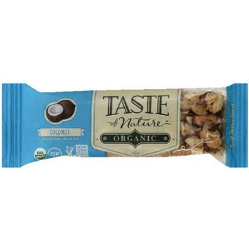 Taste of Nature Organic Coconut Wholesome Snack Bar, 1.4 oz, (Pack of 12)