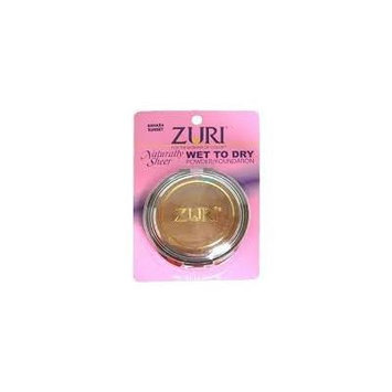 Zuri Wet To Dry Pressed Powder Make Up W/ Free Nail File (Pack of 3) (Fresh Hazelnut)