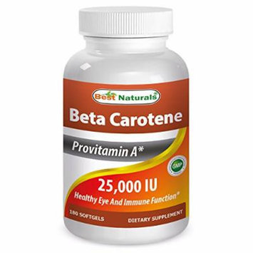 Best Naturals Beta Carotene 25000 Iu 180 Softgels